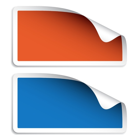 etiquetas redondas: vectoriales en blanco pegatinas