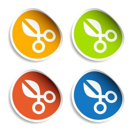shear: vector scissors stickers