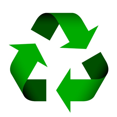 recycle trash: vector de s�mbolo de reciclaje