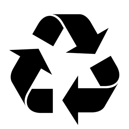 reduce reutiliza recicla: vector de s�mbolo de reciclaje