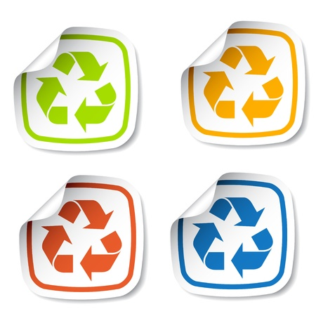vector recycle stickers Stock Vector - 11525552