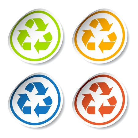 vector recycle stickers Vector