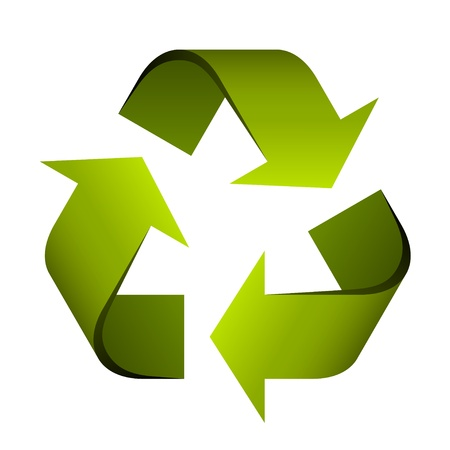 recycle sign: vector recycle symbol Illustration