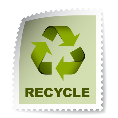vector recycle post stamp Vector