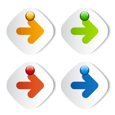 attachments: vector arrow stickers Illustration