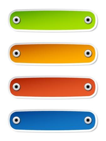 pushpins: vectoriales en blanco etiquetas