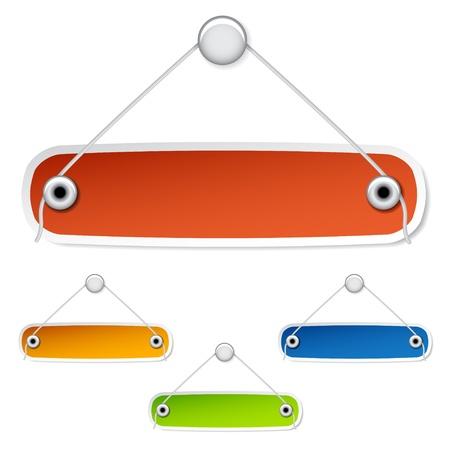 tack board: vectoriales en blanco etiquetas colgantes