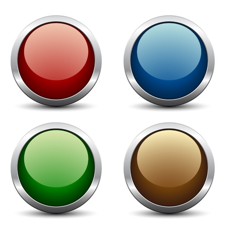 website buttons: Vector glossy buttons