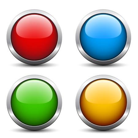 bouton brillant: Vecteur boutons glossy Illustration