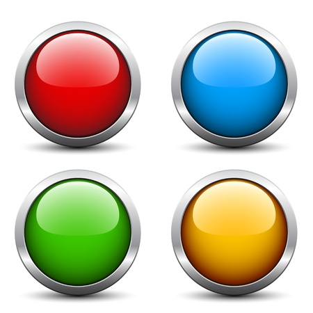 green button: Vector glossy buttons