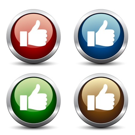 Vector thumb up buttons Vector