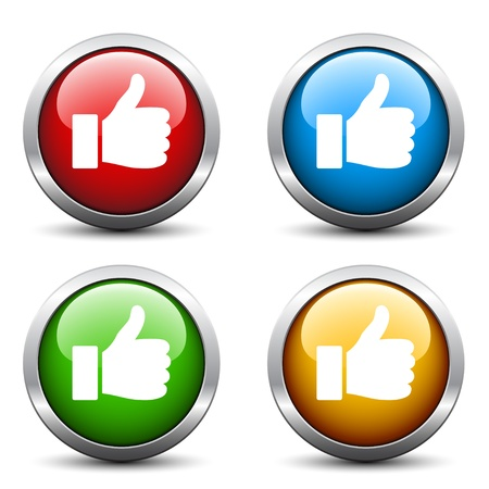 approval icon: Vector thumb up buttons Illustration