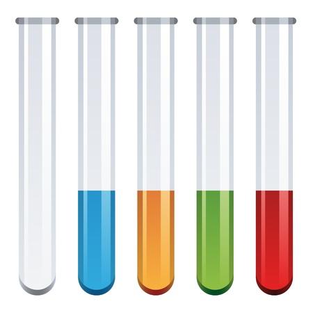 hypothesis: vector test tubes Illustration
