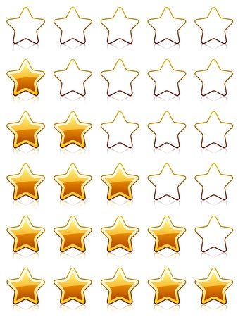 five stars: vector rating stars