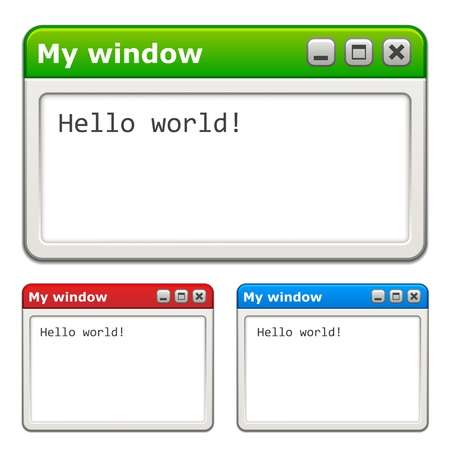 set form: vector computer windows