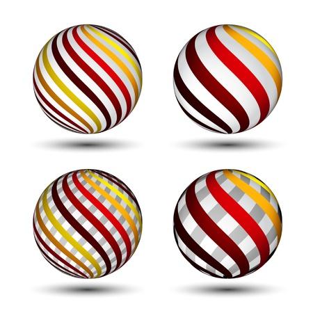 vector abstract globes Stock Vector - 11520160