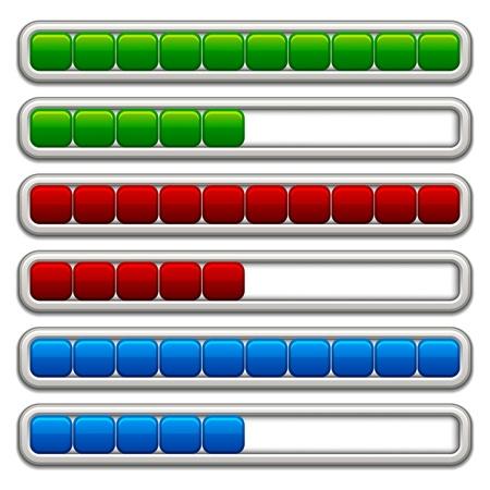 progress steps: vector progress bars