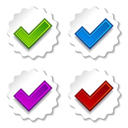 vector positive checkmarks Stock Vector - 11525606