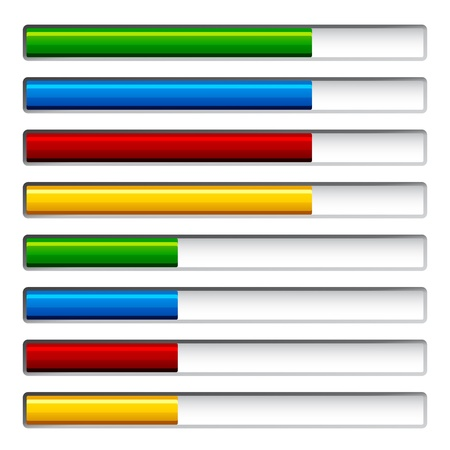 vector progress bars Vector