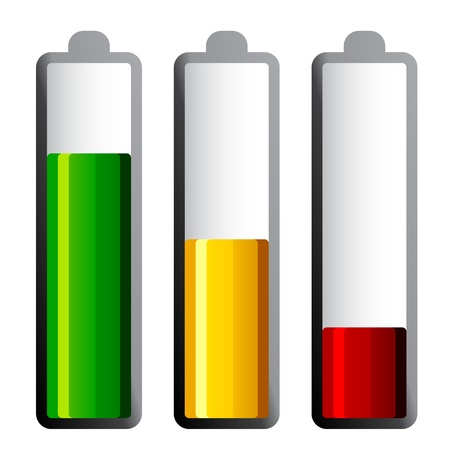 vector batteries with different charge levels Vector