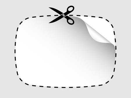 buono sconto: forbici vettore di taglio adesivo
