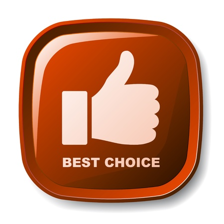 vector red best choice button Vector