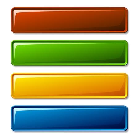 bouton brillant: vecteur blanc brillant boutons
