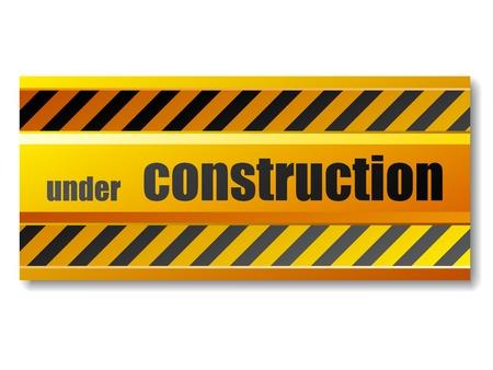 vector sign under construction: vector under construction sign Illustration