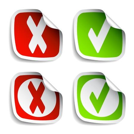 vector check mark stickers Stock Vector - 11565820