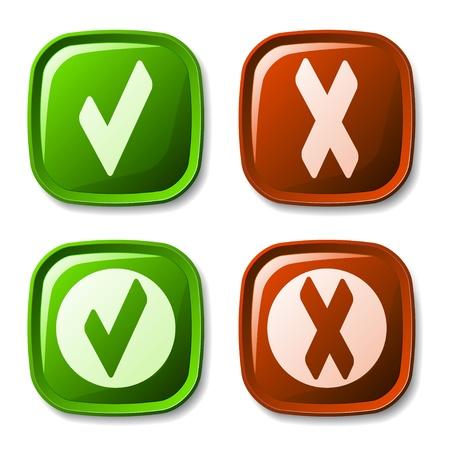vector check mark buttons Stock Vector - 11564765