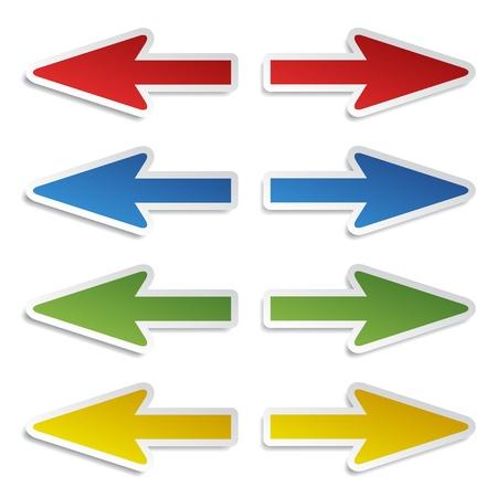 flecha derecha: vector de izquierda y derecha pegatinas de flecha
