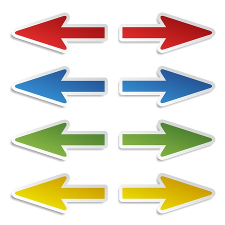 left arrow: vector left and right arrow stickers
