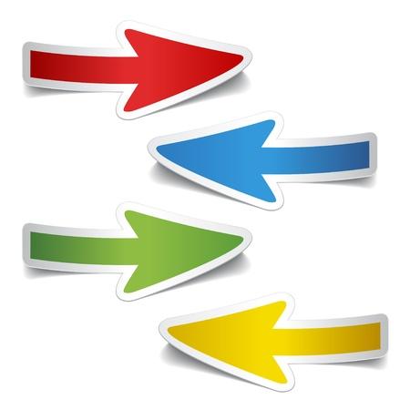 flecha derecha: vector de pelar pegatinas de flecha