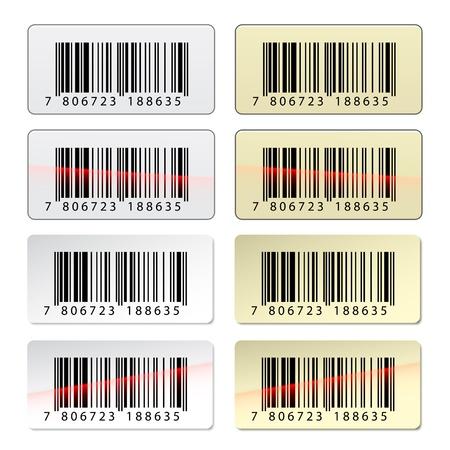 ean: vector EAN barcode stickers