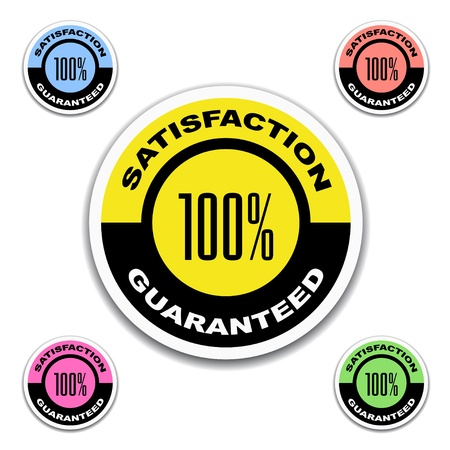 vector satisfaction guaranteed stickers Vector