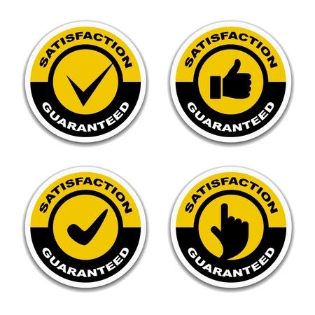 customer satisfaction: vector satisfaction guaranteed stickers