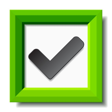 vector green positive checkmark Vector