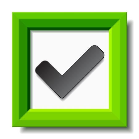 proceed: vector green positive checkmark