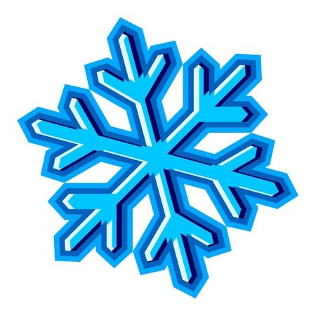 resfriado: vector de copo de nieve s�mbolo