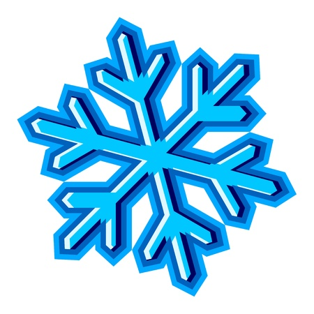 flakes: vector snowflake symbol Illustration