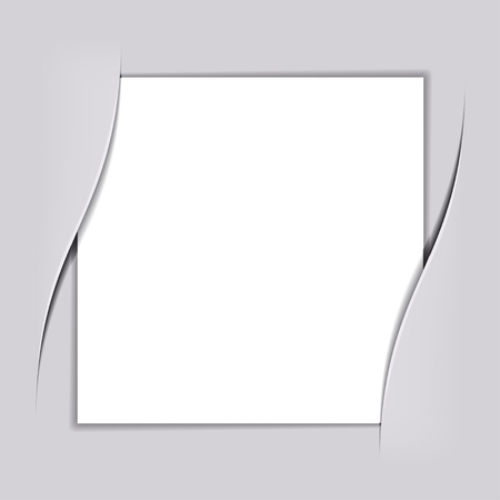 vector blank white square paper Illustration