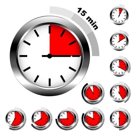 interval: Vector simple timers Illustration