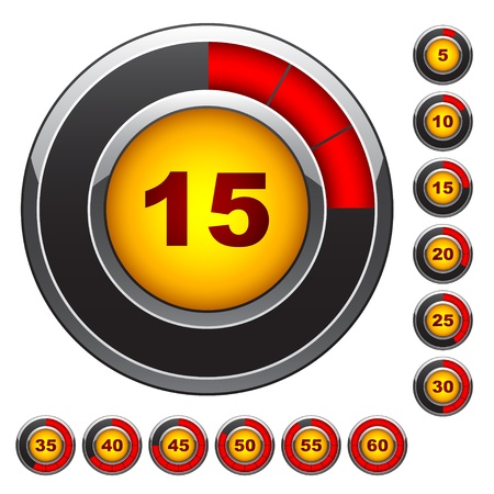 gauges: Vector simple abstract timers Illustration