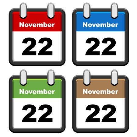calendari: calendari vettoriali semplici Vettoriali