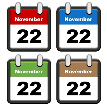 event planning: vector simple calendars