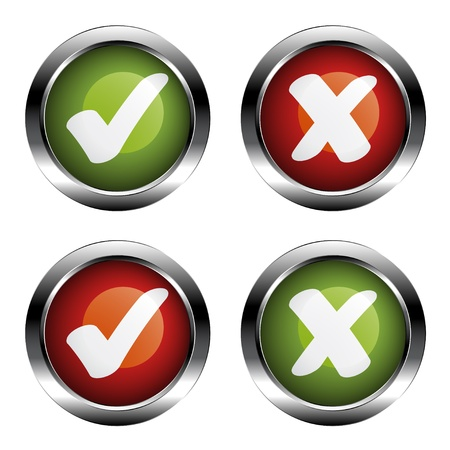 vector white checkmarks labels Stock Vector - 11564485
