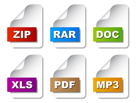 vector document icons Vector