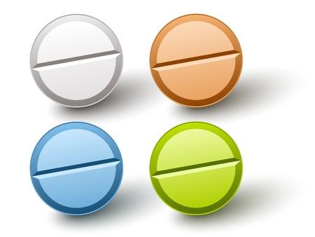 blue pills: vector stylish colored pills