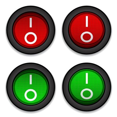 vector cirkel toggle schakelaars