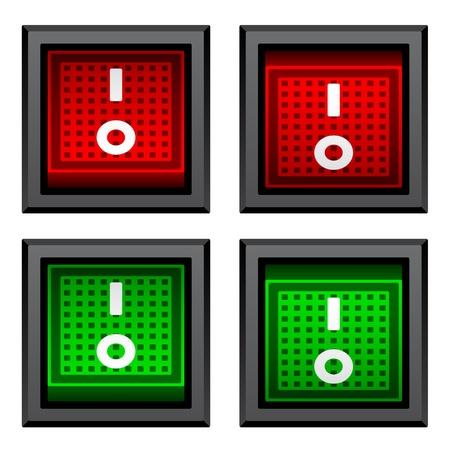 kippschalter: Vektor-Quadrat Toggle Power-Schalter